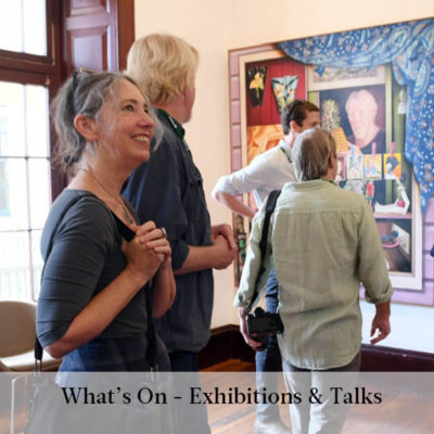 Visit and exhibition or attend an artist talk